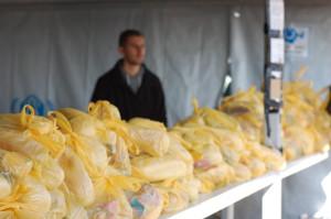 I Tabanovce finns mat, rinnande vatten och tält där man kan vila. Bild: Johanna Senneby