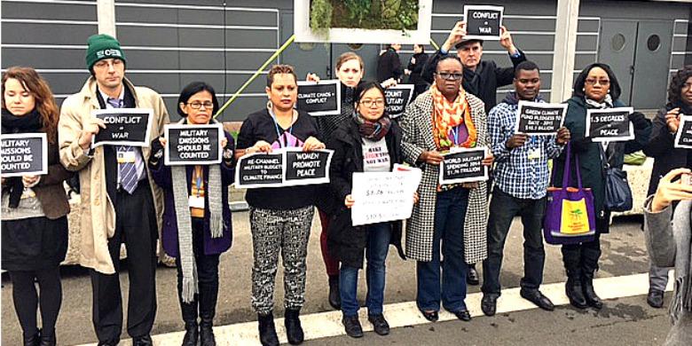 Demonstranter under klimatmötet i Paris. Foto: Jens Holm
