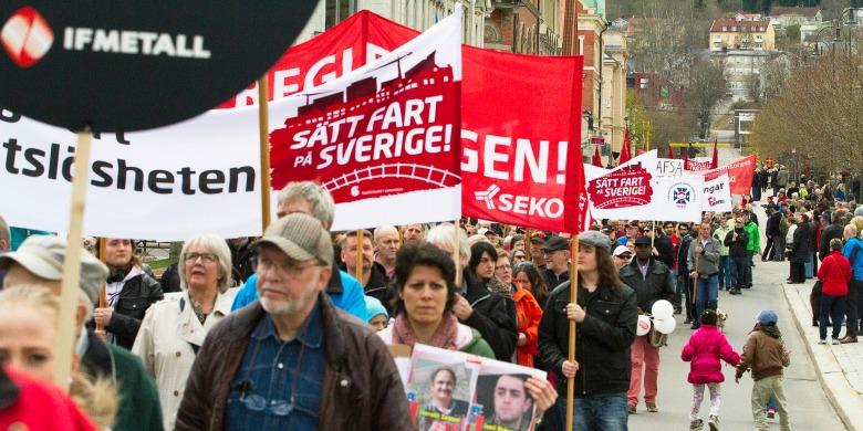 Första maj i Sundsvall 2015. Foto: Socialemokraterna/Flickr.
