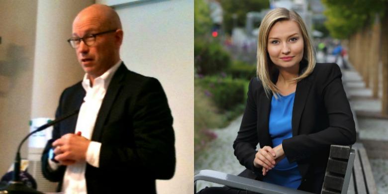 Ola Pettersson, chefsekonom LO, Ebba Busch Thor, partiledare Kristdemokraterna. Foto: Dagens Arena/Kristdemokraterna