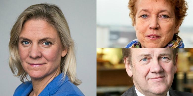 Magdalena Andersson, Helena Dyrssen och Ingemar Hansson