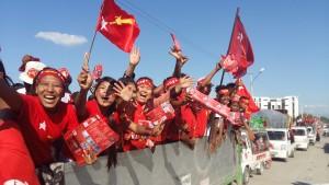 Aktivister i valkampanjen 2015. Foto: Palmecentret.