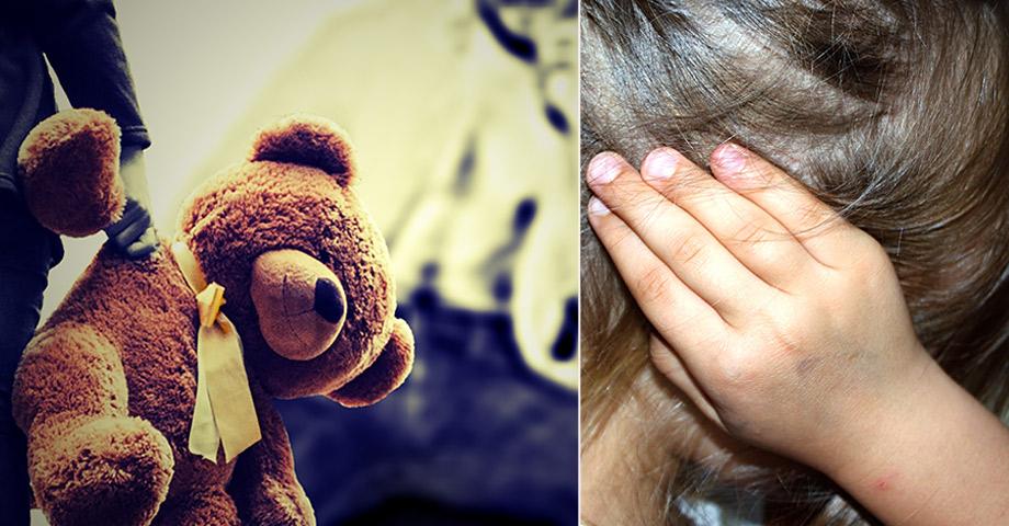Barn som bevittnar våld, en liten flicka som håller för öronen