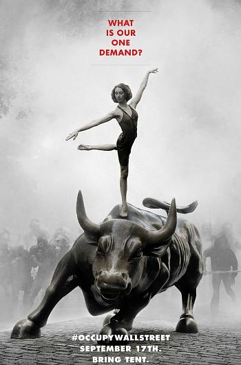 """Occupy Wall Street började med en annons i den kanadensiska tidningen Adbbusters i somras. """"17 september: Bring your own tent."""""""